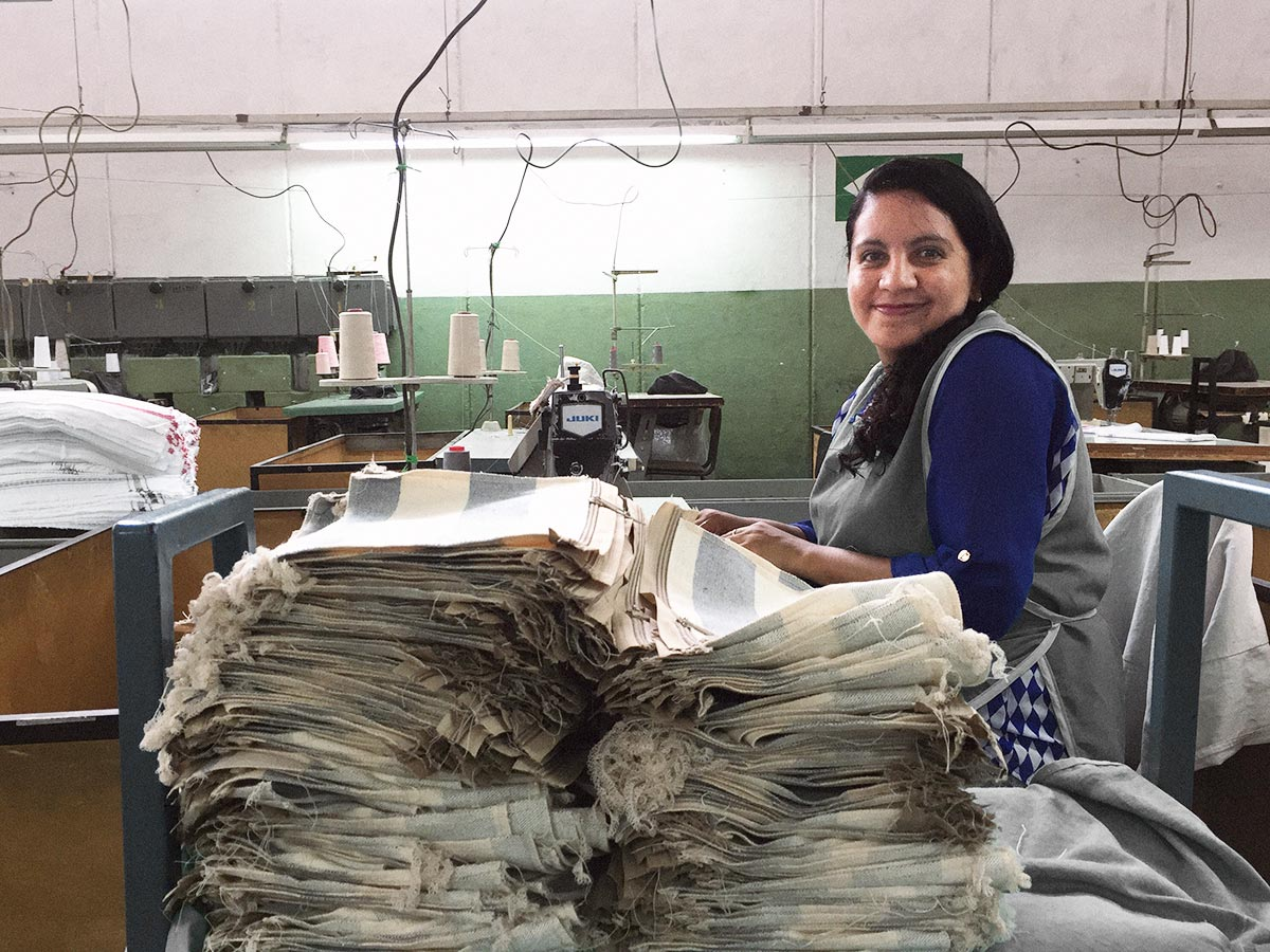 Production of The New Recycled Denim Bag in Guatemala