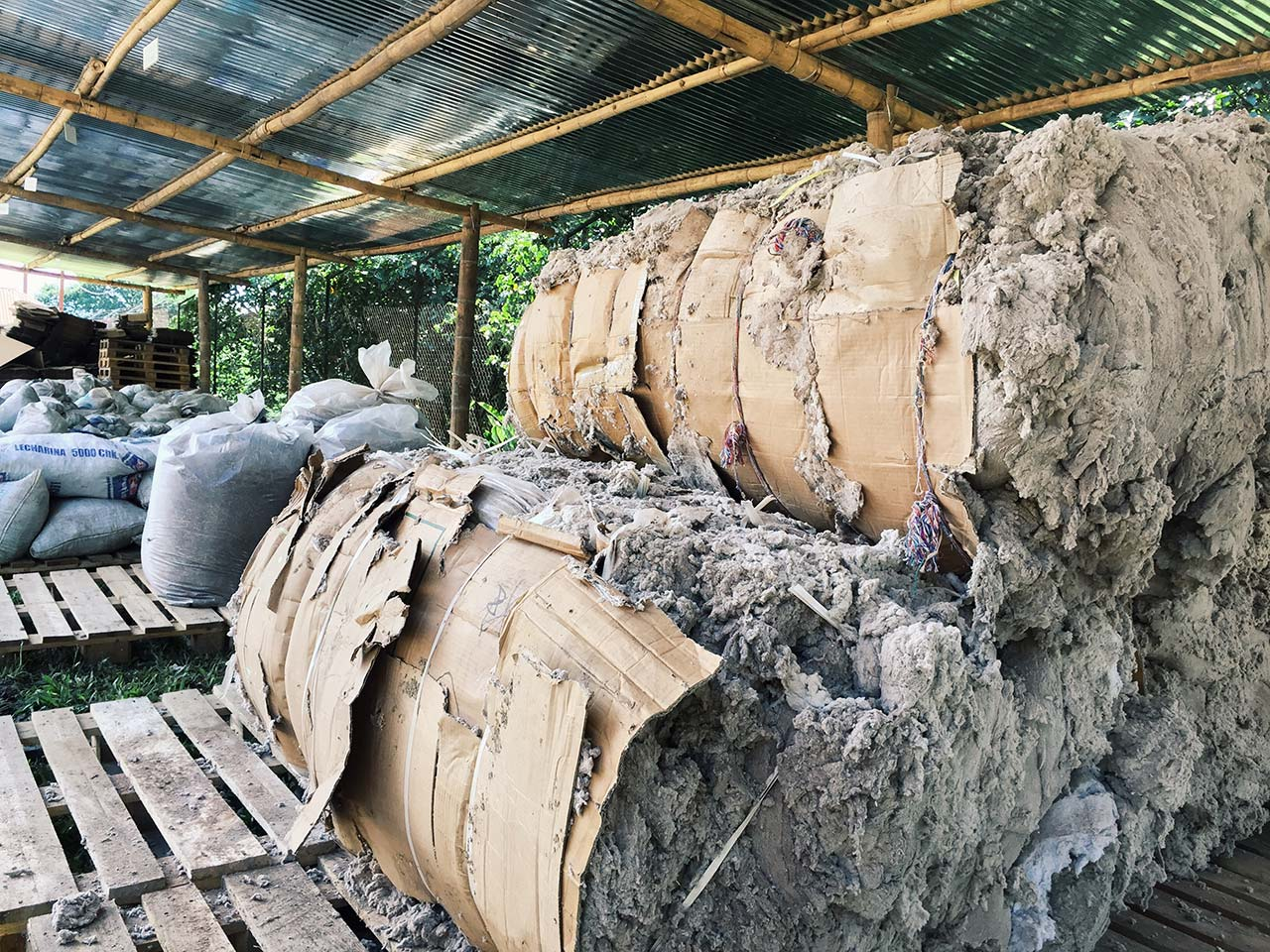 Denim waste fiber