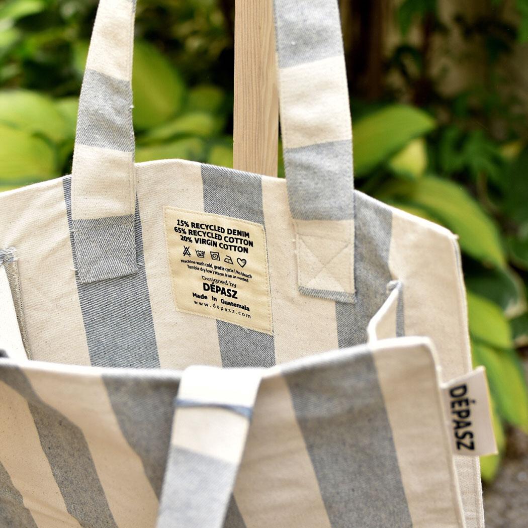 WE LOVE STRIPES Recycled Shopper Bag, Dépasz