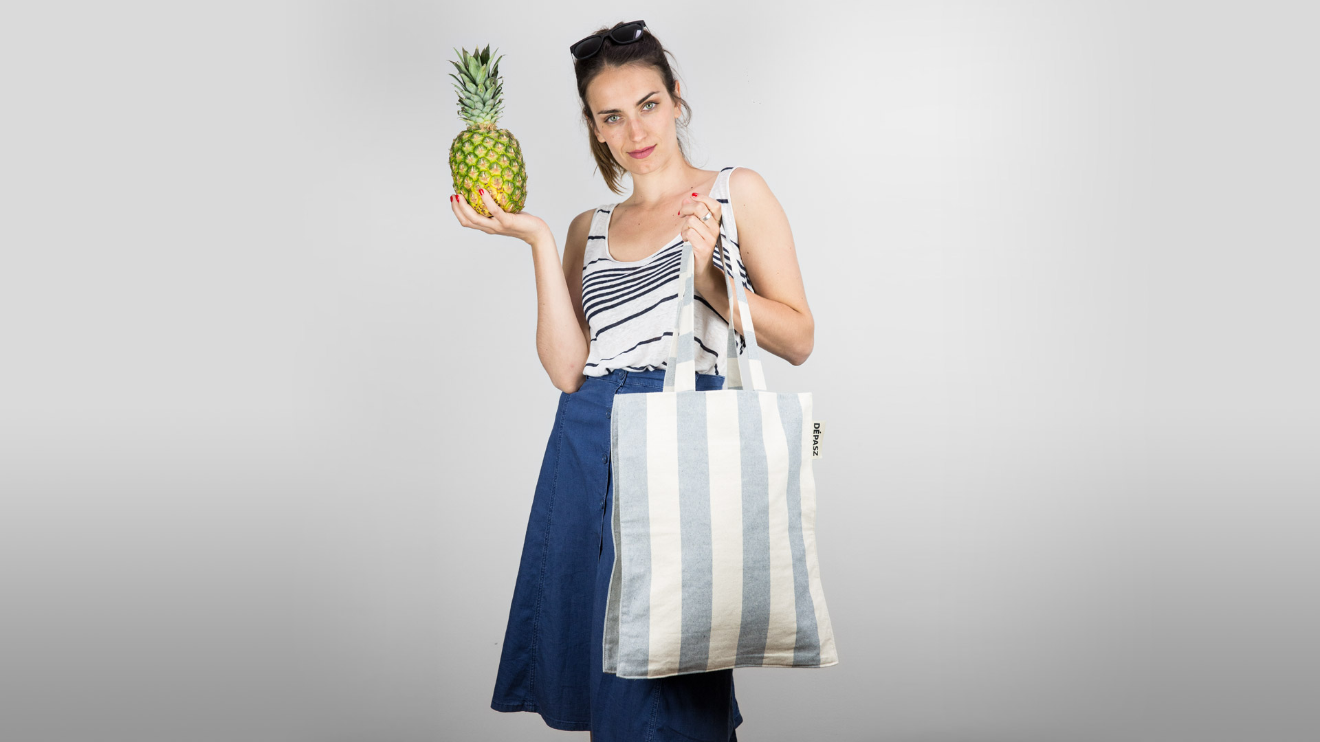 Recycled Lovely Stripes Shopper Bag, Dépasz